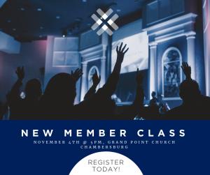New Member Class @ Grand Point Chambersburg - Room B20